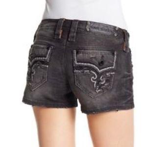 Rock Revival Luna Black Bling Shorts
